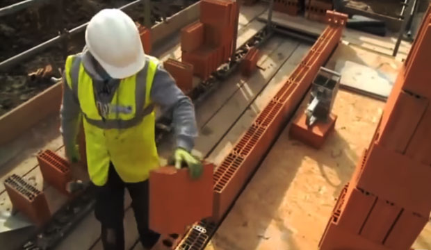 Brief demo of Clay Block Walling System for building
