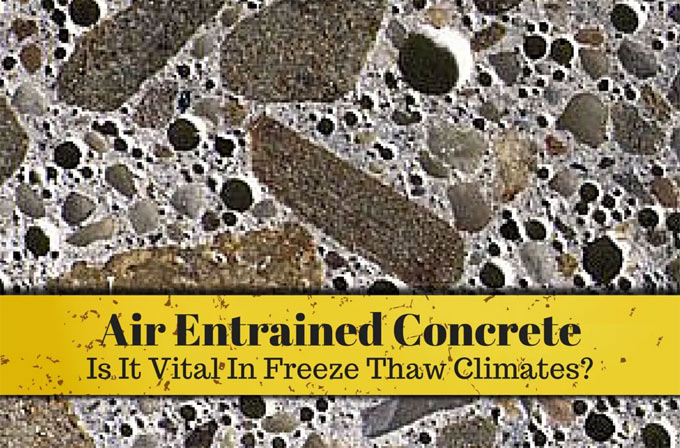 Benefits of air entrained concrete