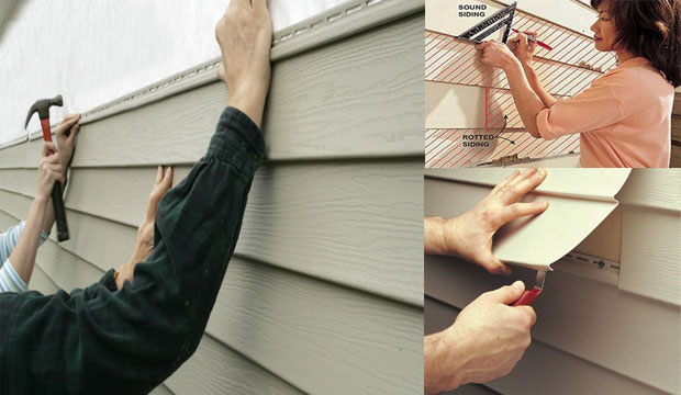 How to replace damaged vinyl siding of a house with Brick Siding Panel system