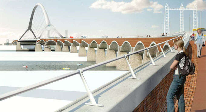 Benefits of piers constructed monolithically in bridge