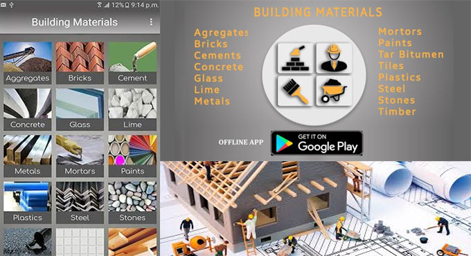 Building materials is the newest app for civil engineer