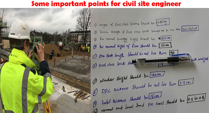 Some important points for civil site engineer