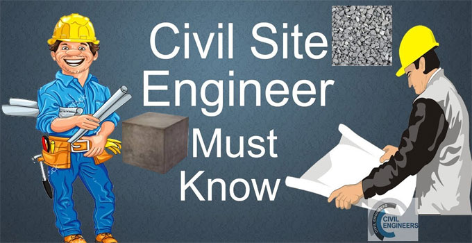 Some vital points a site civil engineer should abide by