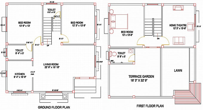 Column layout for a residence ground floor plan first for House plans with columns