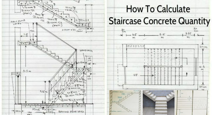 Calculation Method of Concrete Quantity for a Staircase