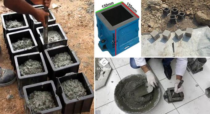 Methods of concrete cube test