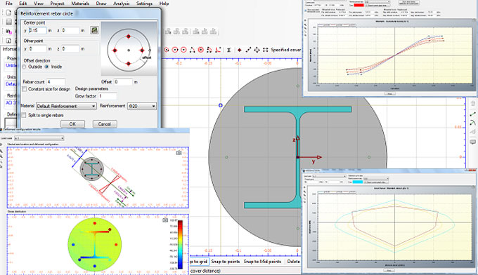 Cross Section Analysis & Design is a powerful construction program for analysis & design of structural cross section