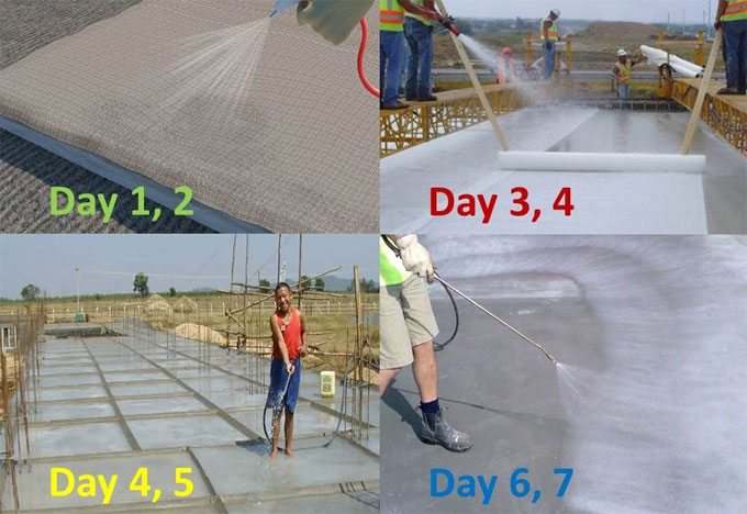 Methods used for Curing of Concrete