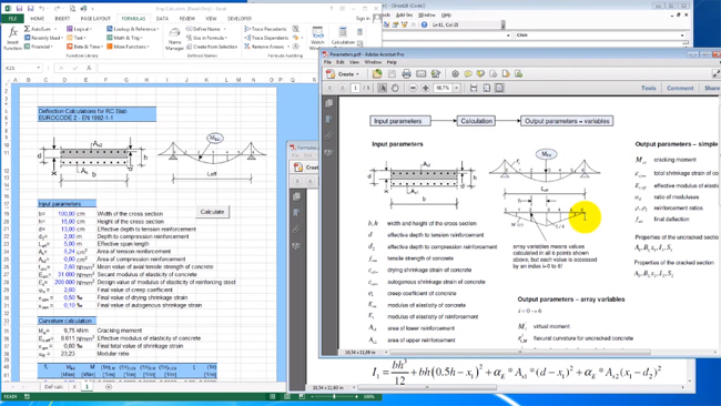 How to use excel for carrying out complex engineering calculations for structural analysis