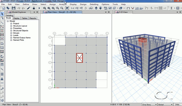 How to use ETABS for designing reinforced concrete floor slab for gravity loads