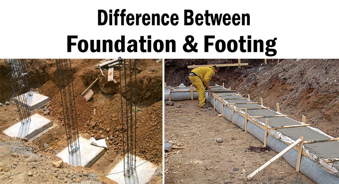 Basic differences among foundation & footing