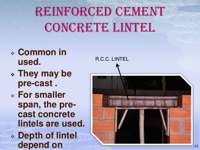 How to design R.C.C lintels
