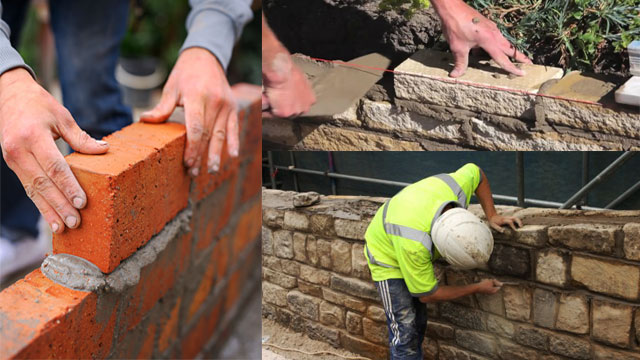 Different methods to strengthen the masonry walls
