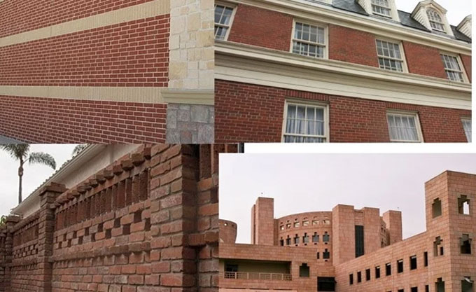 Masonry wall thickness of different masonry walls in for Brick home construction costs