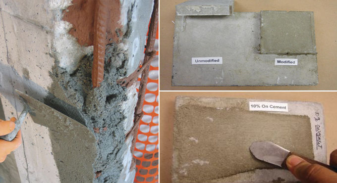 Characteristics of polymer-Modified Mortar