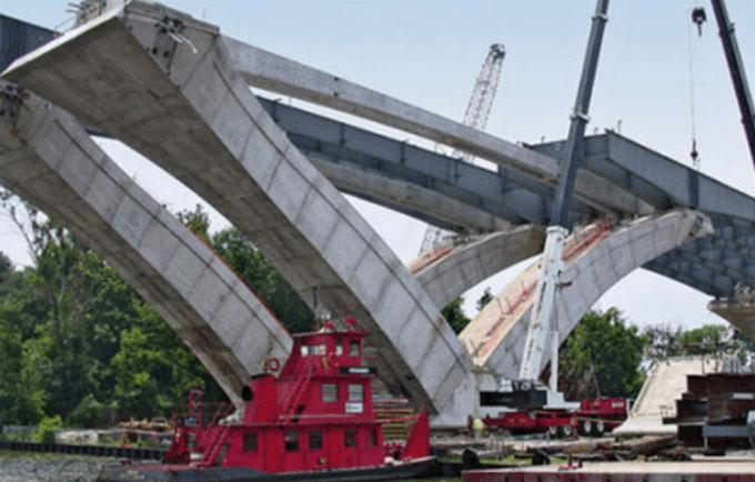 Uses of prestressed concrete in civil engineering