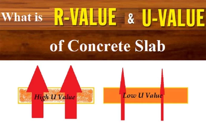 Details about R-value and U-value of Concrete Slab
