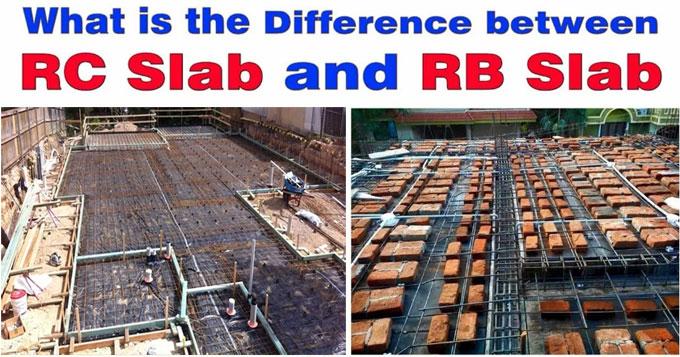 Basic differences among RC slab and RB slab
