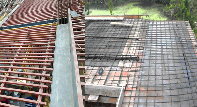 Some vital points to be considered for RCC false slab prior to casting