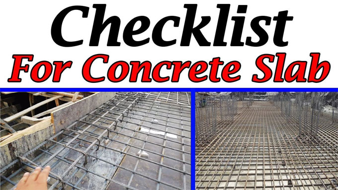 Some important checklists for RCC slab and beams