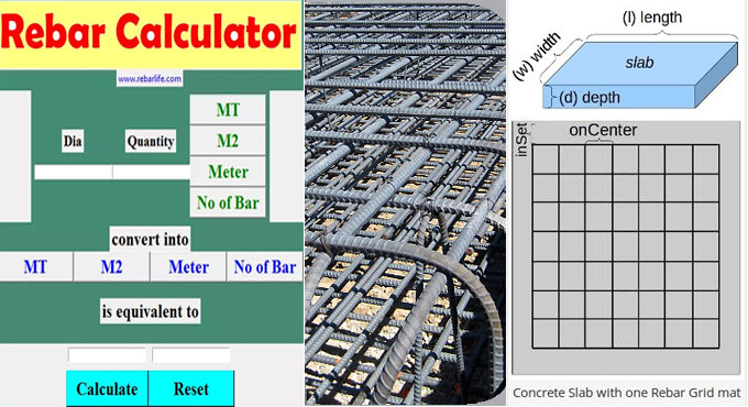 How to make calculation for rebar with Rebarcalculator