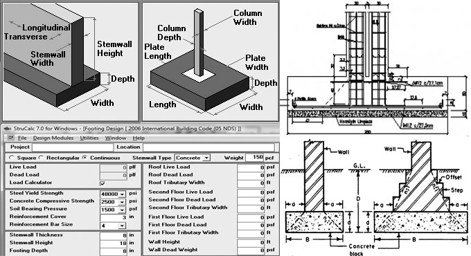 Simplify the rectangular & continuous footing design with StruCalc