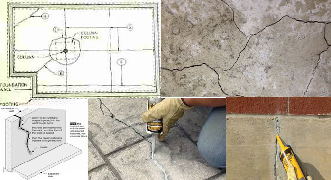 Learn the process to Seal or Repair Cracks in Concrete Floors & Walls