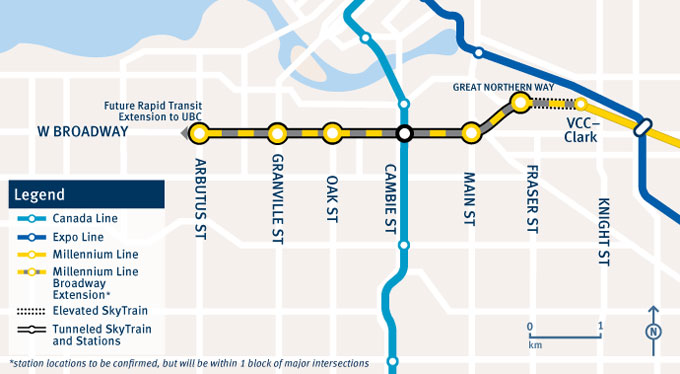 Vancouver's Broadway SkyTrain Extension Project Set to Begin Soon