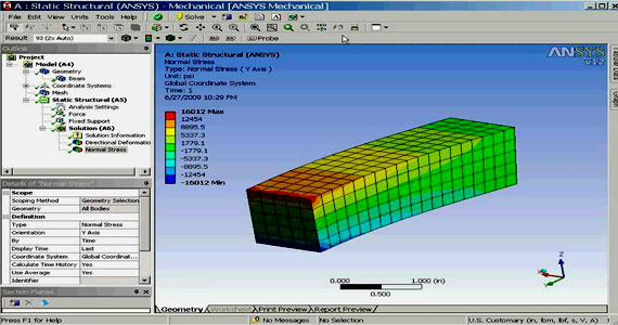 How to model a Reinforced Concrete Beam with Ansys Workbench