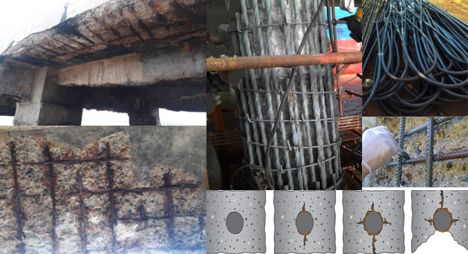Some useful processes to resist corrosion in steel reinforcement