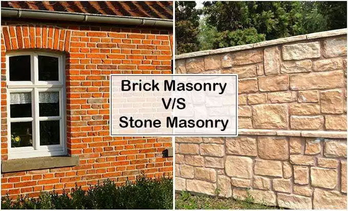 Basic differences among brick masonry and stone masonry