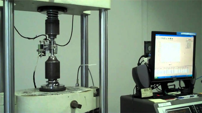 Process of tension test on steel