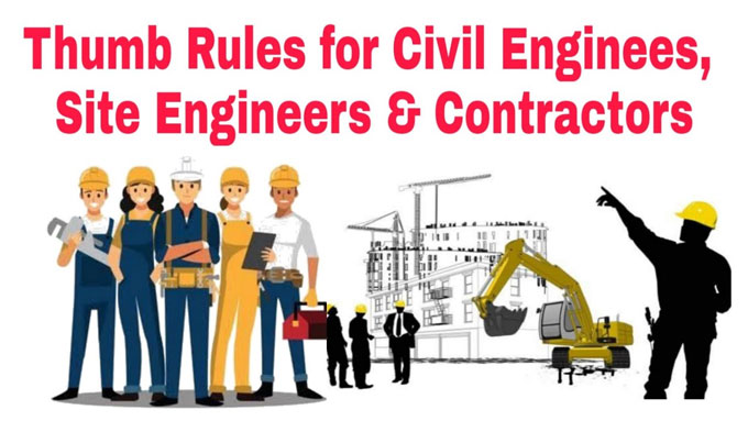 Common thumb rules for civil engineering works