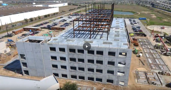 Time Lapse construction video on new extension of Memorial Hermann Katy Hospital