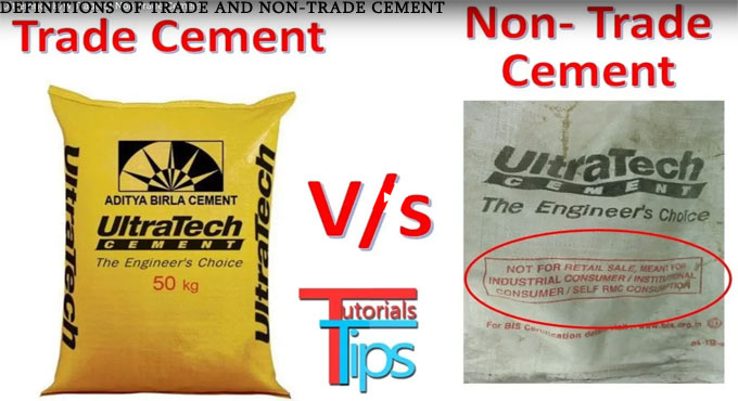 Definitions of trade and non-trade cement