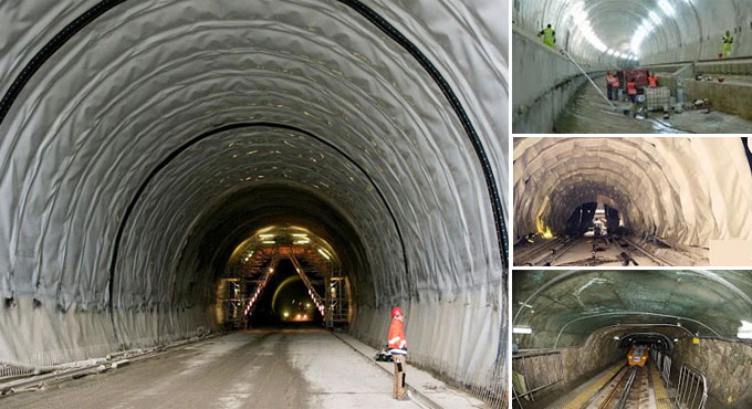 Various Types of Waterproofing System of Tunnel