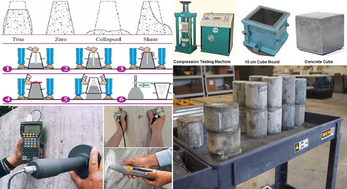 Some vital tests to check the quality of concrete