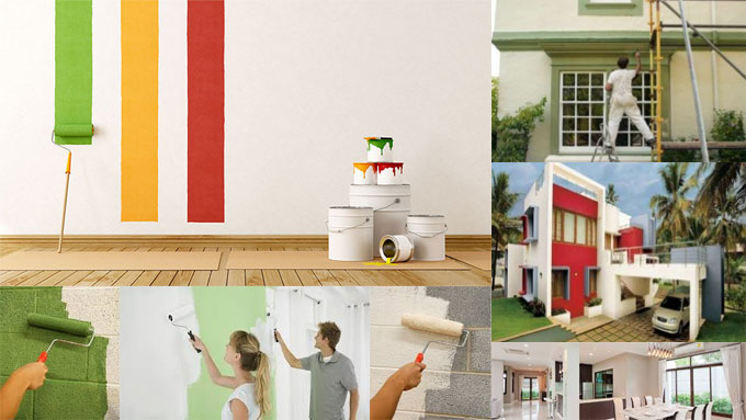 Various Types of Paint useful for Interior Walls and Exterior Surface