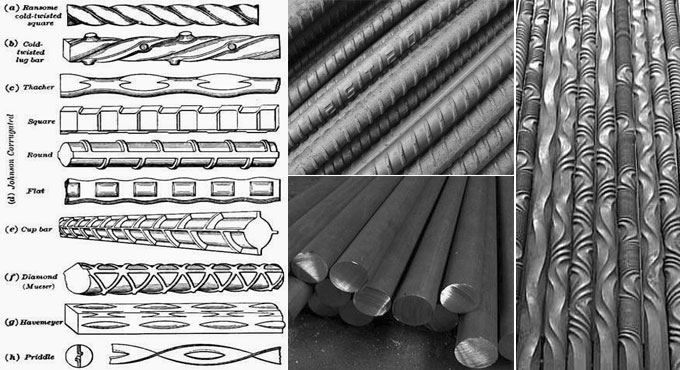 Types of steel bars for construction