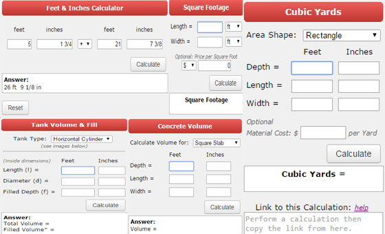 Material estimator construction calculators do it yourself for Online construction cost estimator