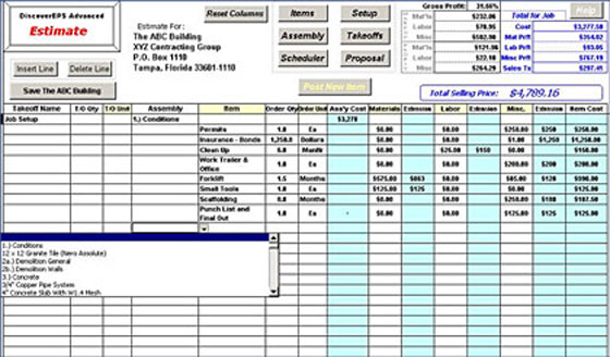 Construction Estimating Sheet And Its Utility