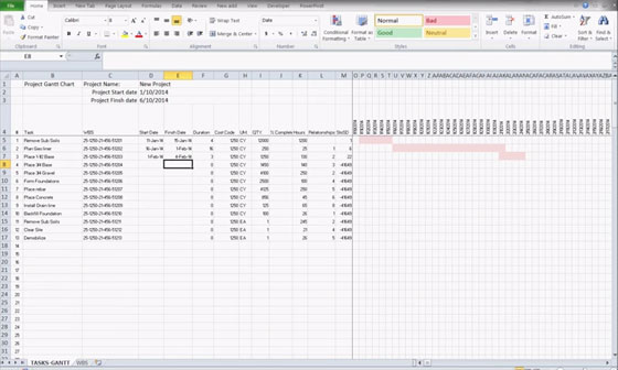 Excel construction schedule templates for project management – Construction Schedules Templates