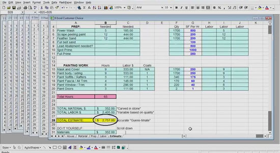 Excel Estimating for Painters