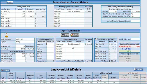 Hourly Construction Cost Calculator, Labor Burden Estimator Demo