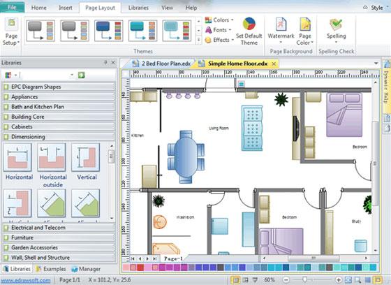 Home Plan Design | Home Plan Software Free | Floor Plan Software
