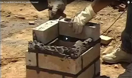 Some useful construction tips for laying brick columns & soldier course