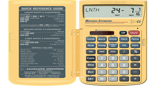 Calculated Industries 4019 Materials Estimating Calculator