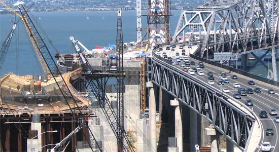 San Francisco-Oakland Bay Bridge Construction