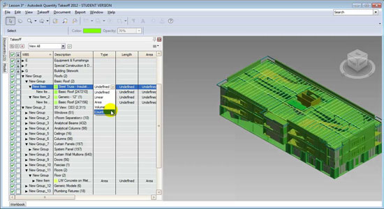 Revit Architecture and Autodesk QTO