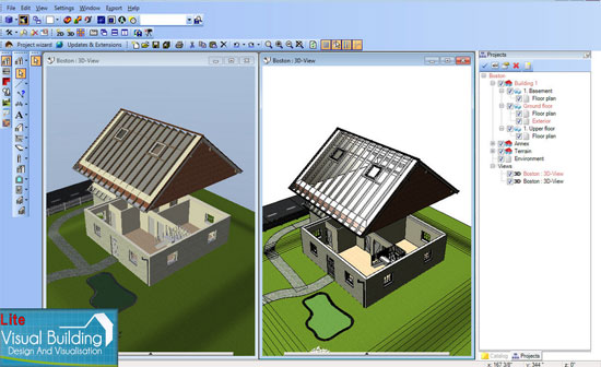 Visual Building - Editing roof wood construction